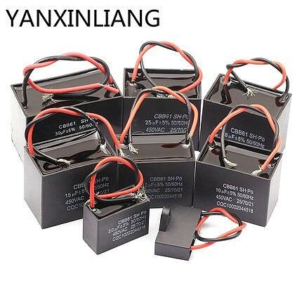 1pcs CBB61 starting capacitance AC Fan Capacitor 450V CBB Motor hjxrhgal Run Capacitor 2UF