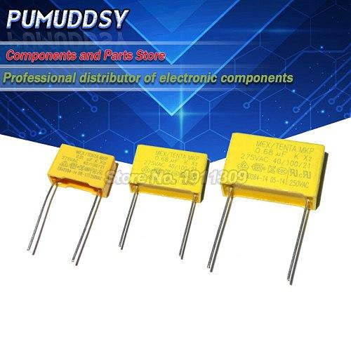 10PCS 275VAC capacitor X2 series 0.01UF ~ 2.2UF Polypropylene film capacitor New 10nf 100nf 150nf 200nf 680nf 470nf 1UF