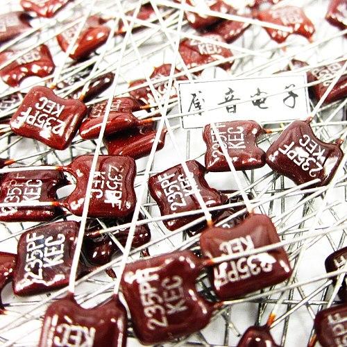20PCS/50PCS Silver mica capacitors capacitance line fever KEC Mica 235PF 100V FREE SHIPPING