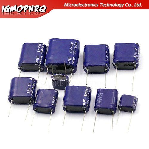 Super capacitor farad capacitor combination type 5.5V 0.5F/1F/2F/3.5F/4F/5F/7.5F/10F/15F