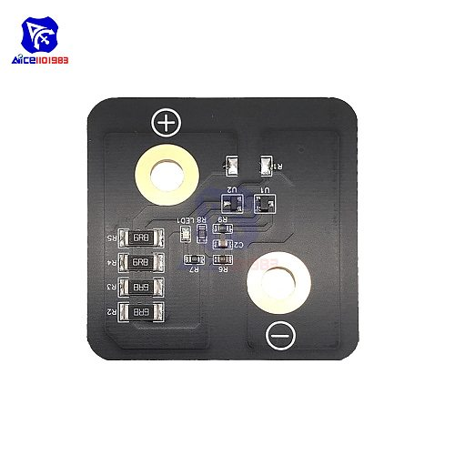 2.8V 3000F Super Farad Capacitor 5.4*5.4cm Balance Board Super Capacitor Voltage Regulator Protection Board