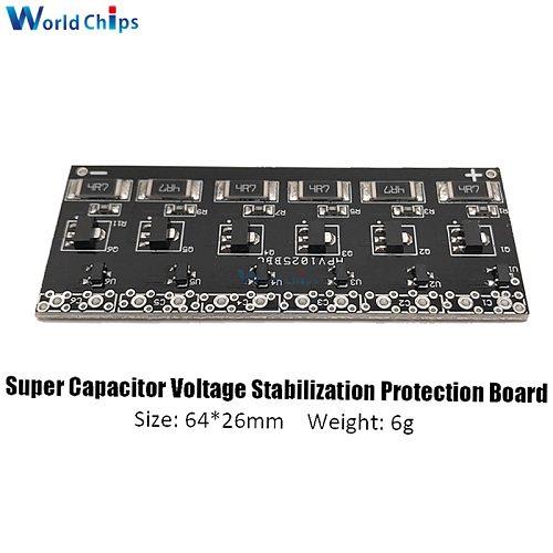 2.5V -2.7V 1F -10F Capacitor Protection Board 6PCS Single Row Super Farad Capacitor Balancing Protection Board Module