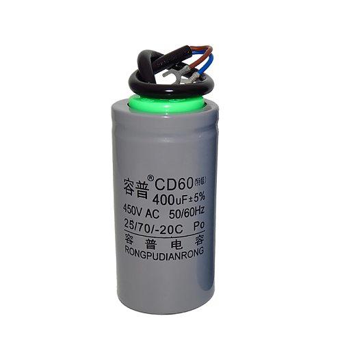 Paper core CD60 motor start capacitor 100/150/200/250/300/350/400UF single-phase motor capacitor  450V