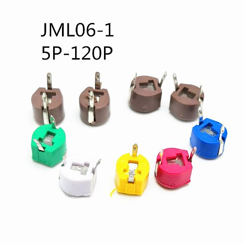 20Pcs/lot original JML06-1-40P 40pf 6mm JML06-1 DIP trimmer Adjustable capacitor