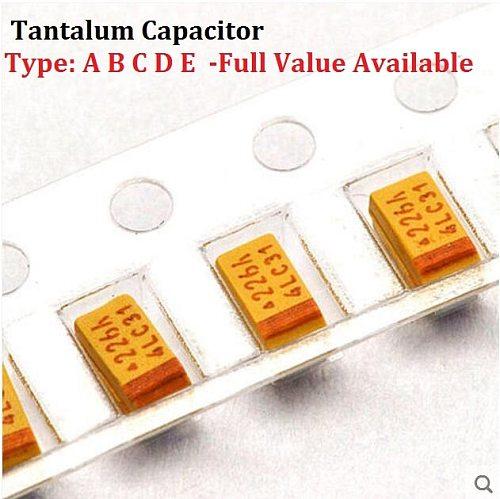 10PCS Tantalum Capacitor Type A 106 6.3V 10UF 6.3V SMD 3216 Capacitance 6.3V10UF 1206 Capacitors 10UF6.3V