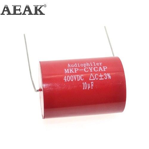 1Pcs Audiophiler Axial MKP 10UF 400VDC HIFI DIY audio grade capacitor for tube guitar amps