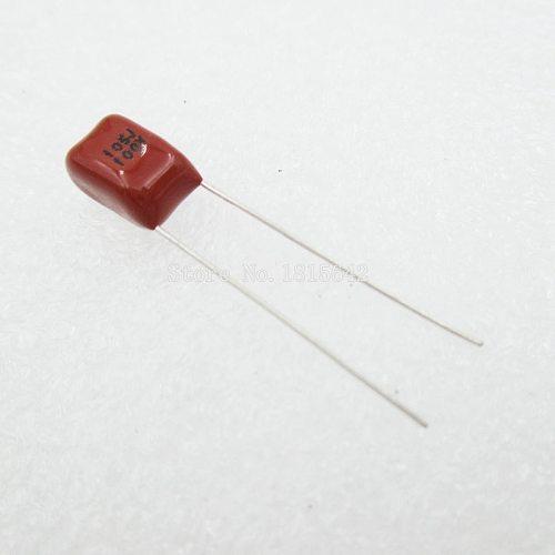 10PCS/Lot 1uF 105 100V CBB Polypropylene Film Capacitor Pitch 5mm 105 1uF 100V NEW