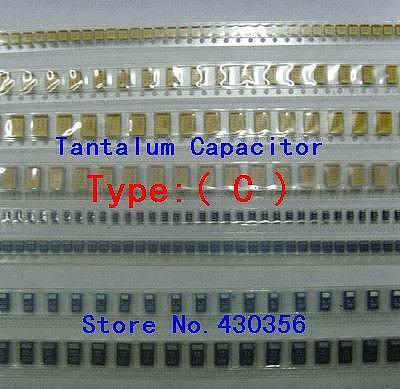 10PCS  Tantalum Capacitor  6032  Type:C      227  220UF  6.3V   227J