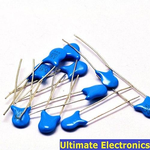 20pcs 2.2nF 222 1KV 2200pF High Voltage Ceramic Disc Capacitor