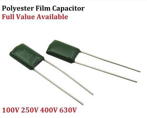 50PC Polyester film capacitor 2A563J 2A683J 2A823J 2A104J 100V 630V 2J222J 2J152J 0.0/0.00/1.5/2.2/56/68/82/100/NF/UF