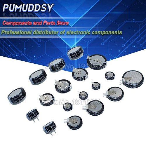 5.5V Super capacitor 0.1F 0.22F 0.33F 0.47F 1F 1.5F 4.0F V-type C-type H-type Button Farad capacitor