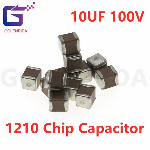 50pcs 1210 10uF 106K 10.0uf 250V X7R 10% SMD Ceramic Capacitor MLCC