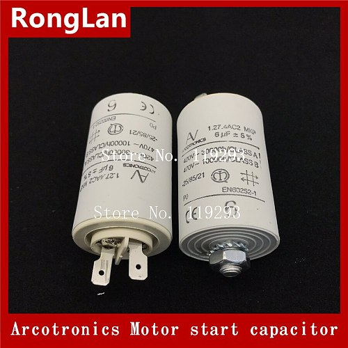 [BELLA] [New Original]  ARCOTRONICS Motor inverter start  capacitor 1.27.4AC3 MKP 1UF 2UF 3UF 4UF 5UF 8UF 10UF