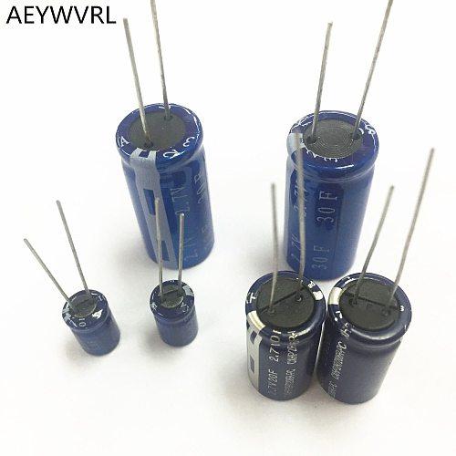 super capacitor farad capacitor 2.7V 1F 2F 3.3F 4F 4.7F 5F 6F 7F 8F 10F 15F 20F 25F 30F super capacitor
