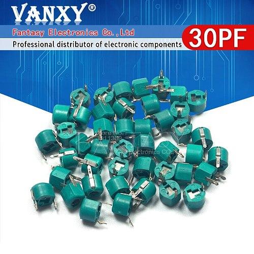 20pcs 30P 30PF 6mm JML06-1 DIP trimmer Adjustable capacitor