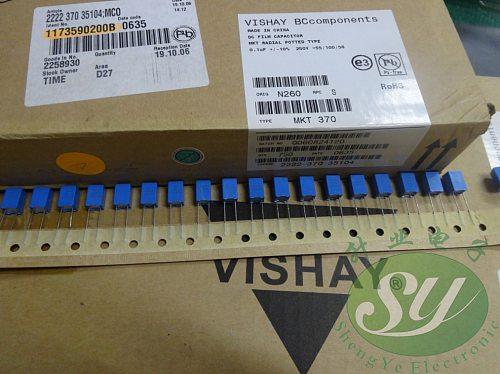 2019 hot sale 20PCS/50PCS VISHAY MKT370 series 0.1uf/250v 100nf u1 104 new film capacitor 5MM free shipping