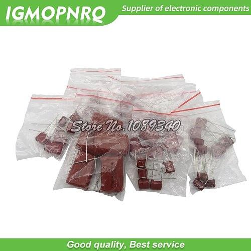 KIT 50PC=10value*5PCS Metallized Polyester Film Capacitors CBB Assortment Kit 400V 10nF ~ 3.3UF igmopnrq