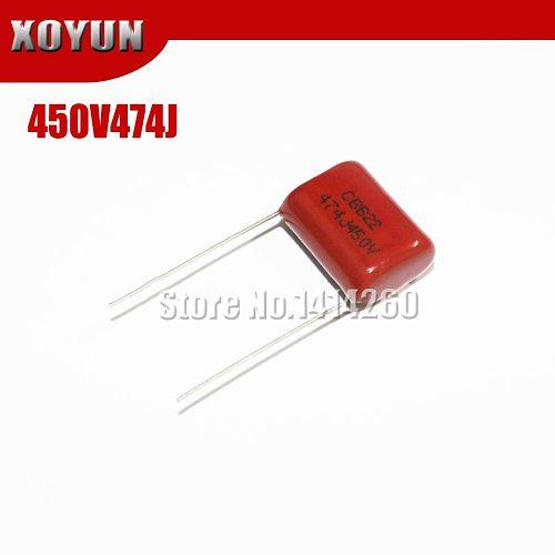 10PCS 450V474J 0.47UF 470NF Pitch 15mm 474J 450V CBB Polypropylene Film Capacitor