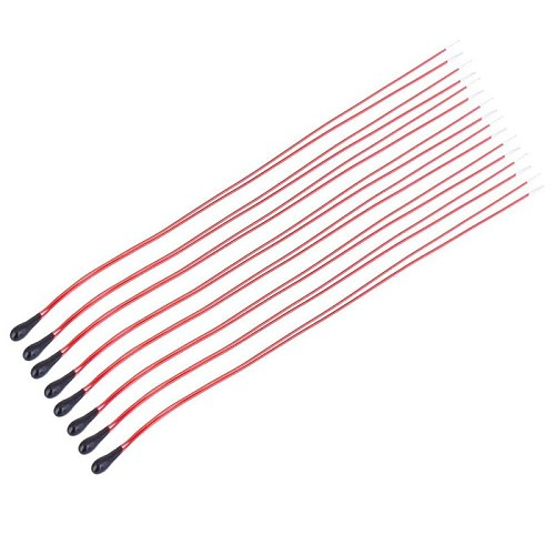 10PCS MF52B MF52D NTC Thermistor Thermal Resistor B3950 B3435 10K 100K 50mm 60mm 80mm 100mm Resistance Red Black