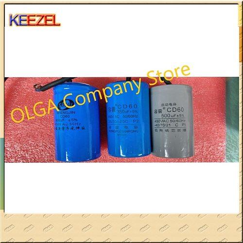 CD60 starting capacitor 75/100/250/300/350/400/500/600/800UF 450V motor starting capacitor 250V