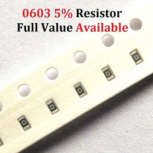 200PCS SMD Chip Resistor 0603 1.5R/1.6R/1.8R/2R/2.2R 5% Resistance 1.5/1.6/1.8/2/2.2/Ohm Resistors 1R5 1R6 1R8 2R2 Free Shipping