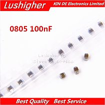 100pcs 0805 100nF 104K 0.1UF 100V X7R 10% Error SMD Thick Film Chip Multilayer Ceramic Capacitor