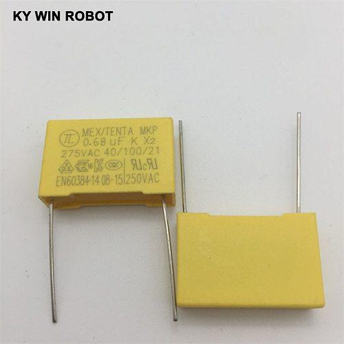 5pcs spacing 22MM 275V 684K 0.68UF 680NF safety capacitor