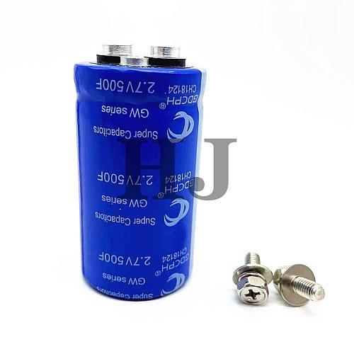 GDCPH 2.7V500F Screw Hole Super Fara Capacitor Automotive Rectifier 16V83F Brand New