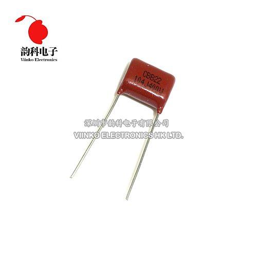 10pcs CBB Polypropylene film capacitor pitch 10mm 104 100nF 400V