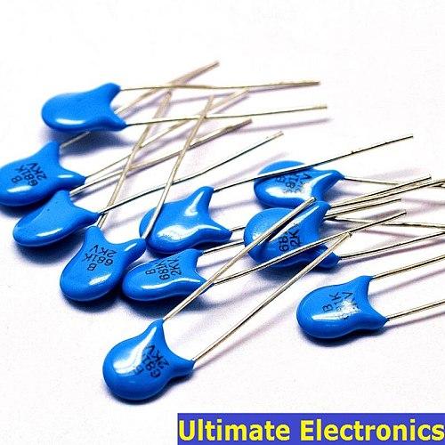 50pcs 680pF 681 2KV 0.68nF 2000V High Voltage Ceramic Disc Capacitor