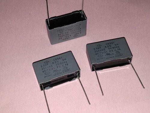 10PCS -1lot New GD Farah CBB61 startup capacitor 205 250VAC 2UF 250V film capacitor
