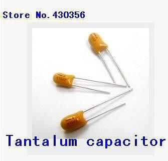 5PCS   25V 100UF   107H   DIP  tantalum  capacitor