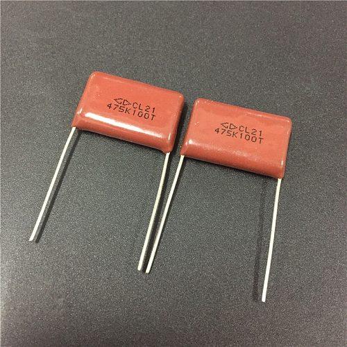 10pcs CBB capacitor 475 100V 475K 4.7uF 4700nF P22 CL21 Metallized Polypropylene Film Capacitor