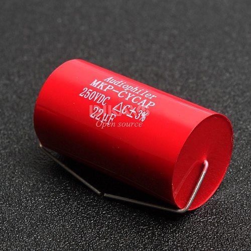 1Pcs Audiophiler Axial MKP 22uF 250v DC HIFI DIY Audio Grade Capacitor for Tube Guitar Amps
