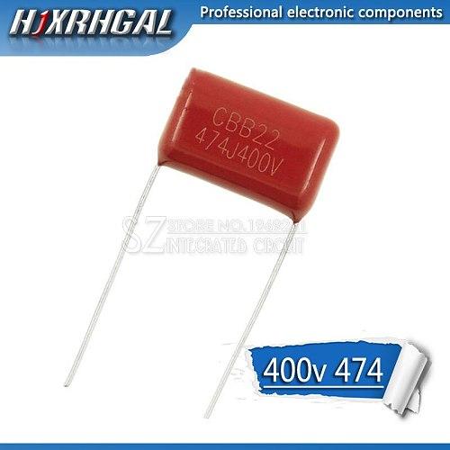 10PCS 400V474J 0.47UF Pitch 15mm 470NF 400V 474 CBB Polypropylene film capacitor hjxrhgal