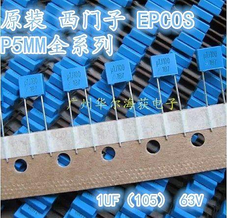 2019 hot sale 20PCS/50PCS EPCOS Correction Capacitor 105/63V 63V 1UF Original Film Capacitor free shipping