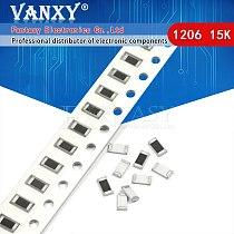 100PCS 1206 SMD Resistor 1% 15K ohm chip resistor 0.25W 1/4W 153