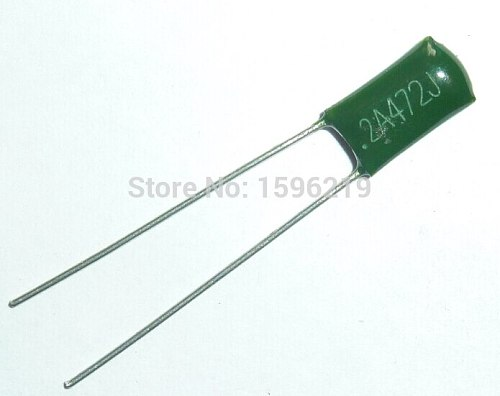 10pcs Mylar Film Capacitor 100V 2A472J 4700pF 4.7nF 2A472 5% Polyester Film capacitor