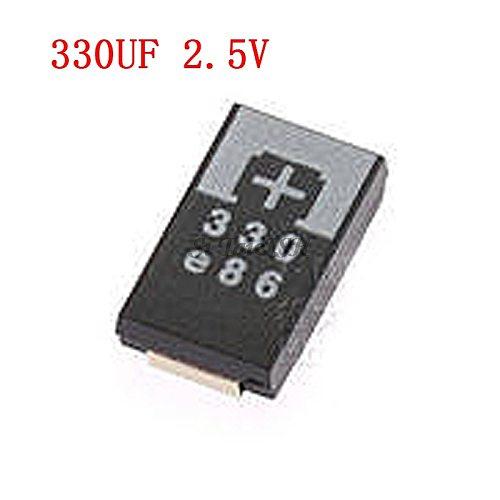 5PCS 2R5TPE330M9 330UF 2.5V 330 6.3V SMD Tantalum Capacitors Polymer POSCAP Type D ultra-thin 7343 D7343 new and original