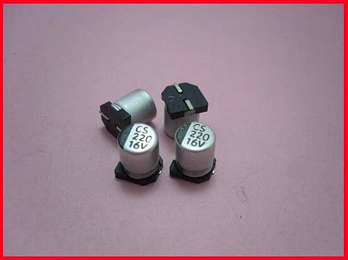 Free Shipping!!! 100pcs The new SMD aluminum electrolytic capacitors / 16V 220UF / solid capacitors /Electronic Component