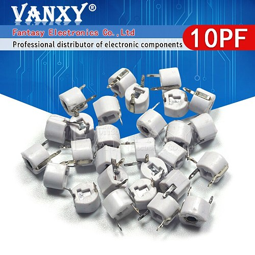 20pcs 10P 10PF 6mm JML06-1 DIP trimmer Adjustable capacitor