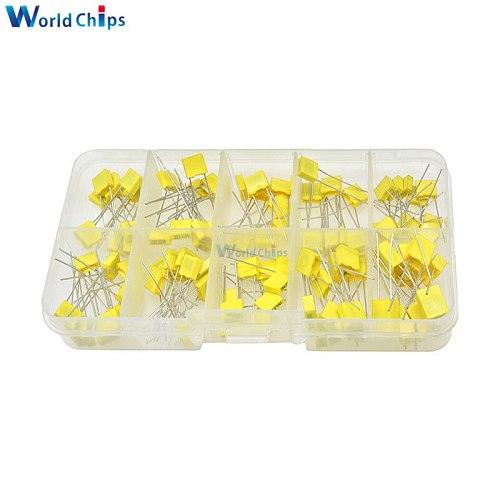 100PCS Correction Capacitor Package Kit 10 Kinds*10 PCS KIT DIY 63V 100V 102J 152J 332J 472J 103J 333J 473J 104J 224J 474J