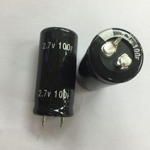 50PCS New and original Super Capacitor 2.7V 100F 2.7V100F 100f 2.7v 2.7v 100f  Farad Capacitor ,Supercapacitor