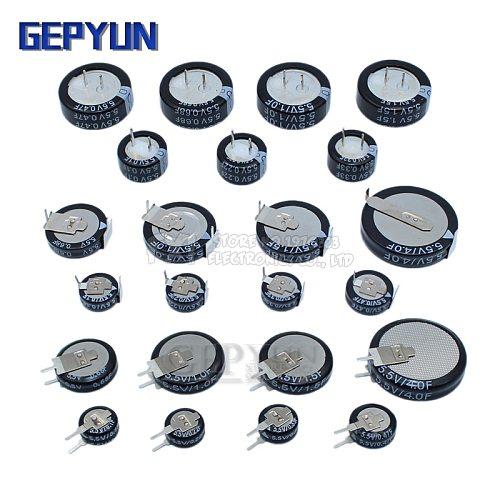 5.5V Super capacitor 0.1F 0.22F 0.33F 0.47F 1F 1.5F 4.0F V-type C-type H-type Button Farad capacitor Gepyun