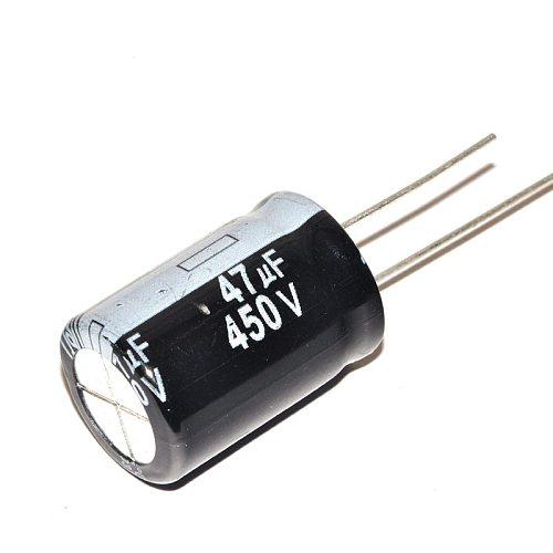 High quality 10 pcs/lot 450V 47UF 16 * 25 16MM * 25MM 47uf 450v Electrolytic capacitor ic ...