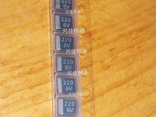 Original 20pcs/ 6.3V220UF 227 220UF 6V B3528 B   1210 Tantalum Capacitor