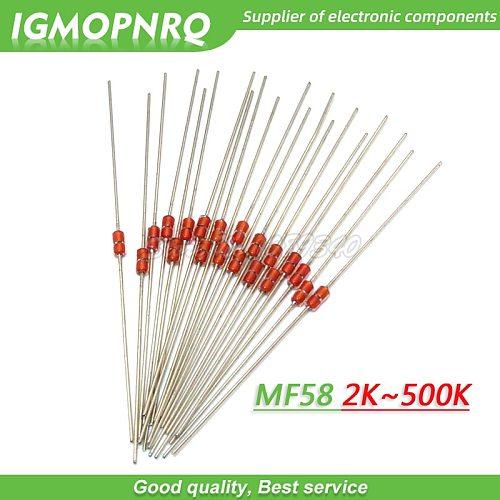20pcs Thermal Resistor NTC MF58 3950 5% B 2K 5K 10K 20K 50K 100K 200K 500K ohm Thermal Resistor