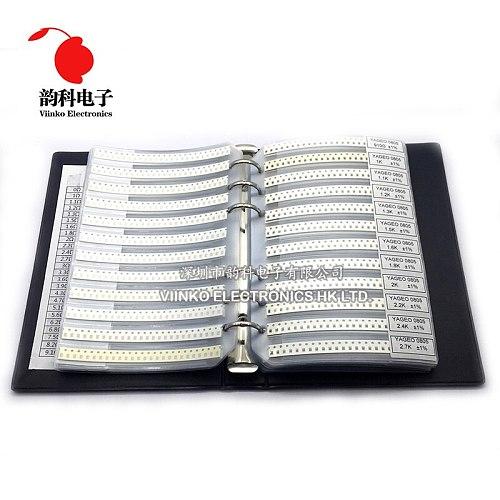 0805 1% SMD Resistor Sample Book 1/8W 0R-10M 170valuesx50pcs=8500pcs Resistor Kit 0R~10M 0R 1R-10M