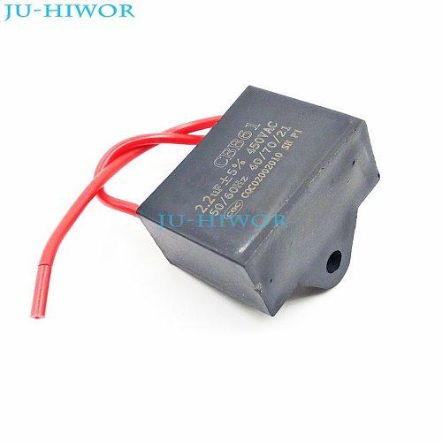 (5pcs/lot) CBB Capacitors 2.2uf 450V AC CBB61 Metallized Capacitor For Motor Start-up Ceiling Fan TOL:5%