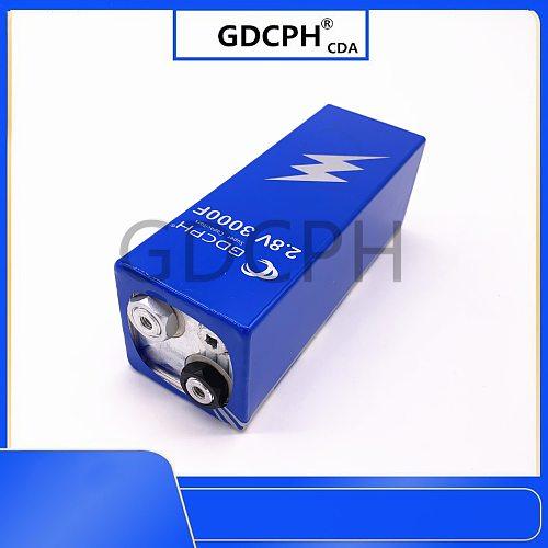 Supercondensador de faradio, dispositivo con tablero de protección para coche, 2,8 V, 3000F, 161x56x56mm baja ESR, alta frecuenc